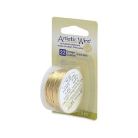 Fil en laiton anti-ternissement 0.64mm Artistic Wire - 4,80 €