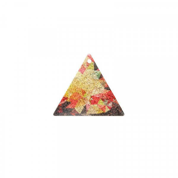 Sequin Stardust triangle 19x22mm multicolore x1 / Sequins, pastilles