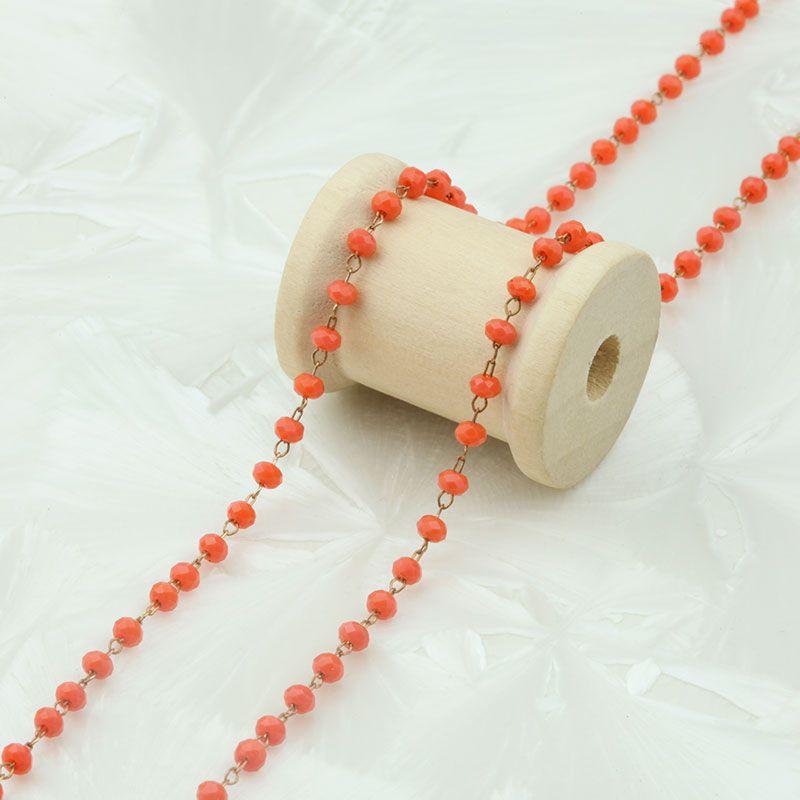 cha ne perl e 3mm orange x20cm la perlerie 22. Black Bedroom Furniture Sets. Home Design Ideas