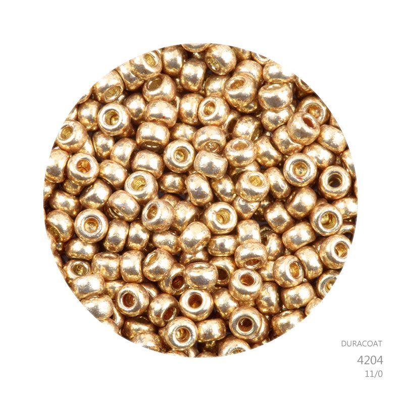 N19//3 Miyuki 11//0 Perles 11-4204 F DURACOAT Galvanisé Matte Champagne 24 g