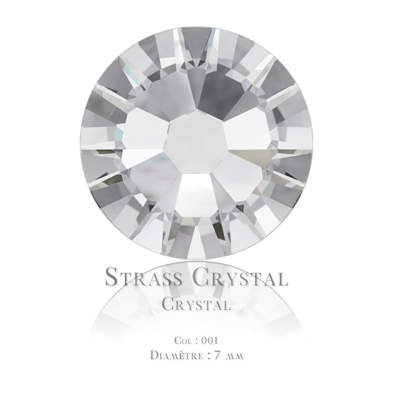 Strass à coller Swarovski Elements 7mm Crystal x20