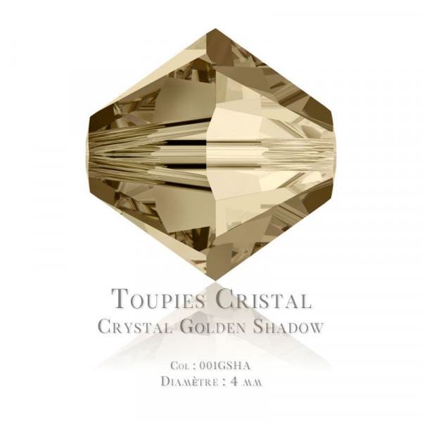 Toupies Swarovski Elements 4mm Crystal Golden Shadow x100 / Swarovski Elements