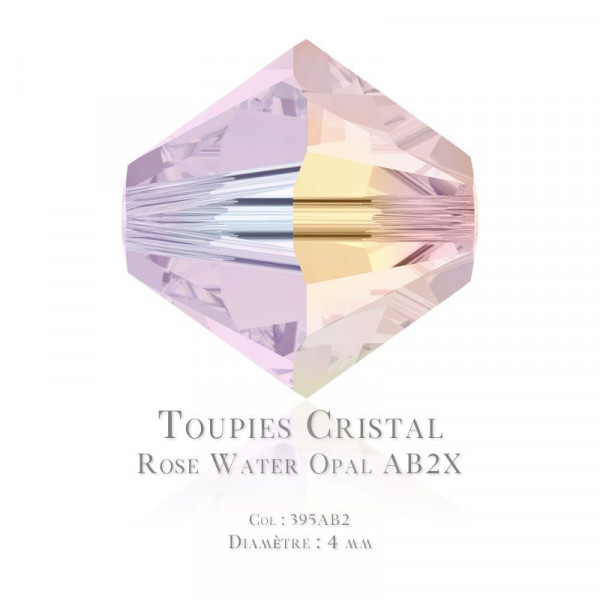 Toupies Swarovski Elements 4mm Rose Water Opal AB2X x100 / Swarovski Elements